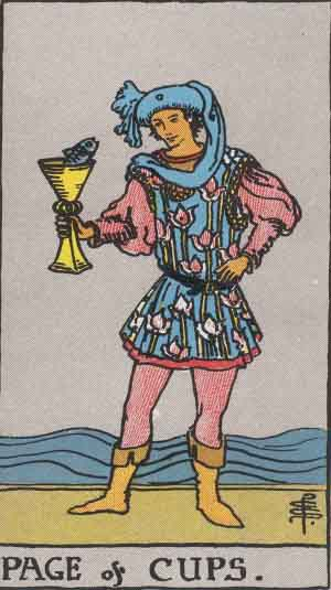 Cups Page tarot card