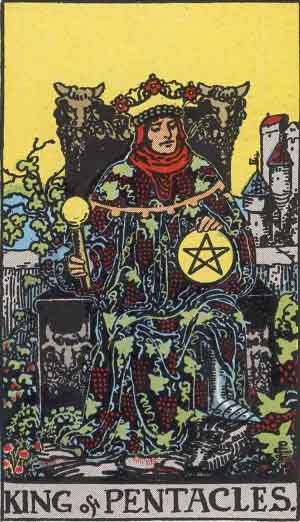 Pentacles King tarot card