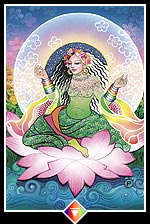 flowering Zen love tarot card